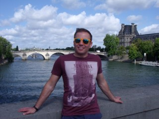 Paris Aug 2014 Me River Seine