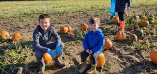 Pumpkin Picking Malt Kiln Farm Oct 2019 Ethan And Dylan