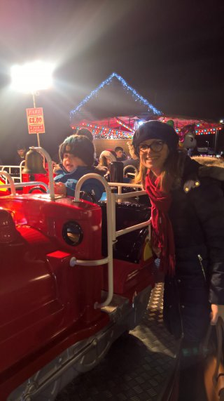 Rachel And Ethan Mini Train Broughton Astley Lights Switch On Dec 2018