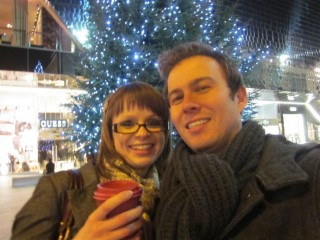 Rachel And I At Christmas Lights Switch On 2011