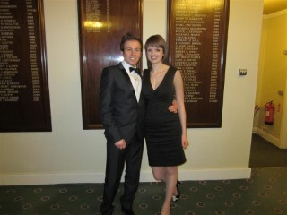 Rachel and I at Freemason Ladies Evening 2011