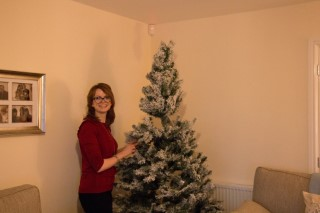 Rachel Putting The Christmas Tree Up December 2017