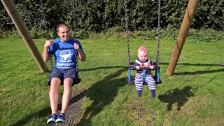 Rothly Park September 2016 Ethan And I Swings