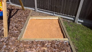 Sand In Garden Sand Pit April 2017