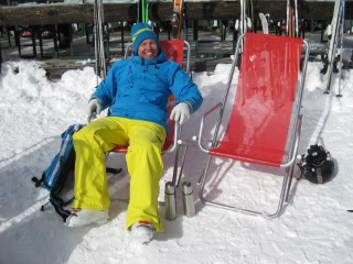 Skiing Italy Feb 2016 Deck Chair Me