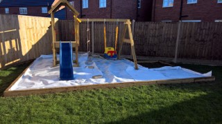 Swing Set And Shed Progress November 2016 Breathable Membrane