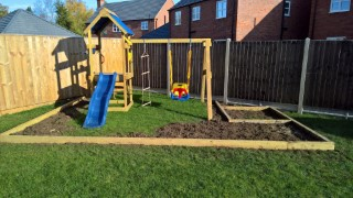 Swing Set Play Area Wood Nov 2016 Front