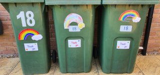 The Bins Rainbows For The Bin Men April 2020
