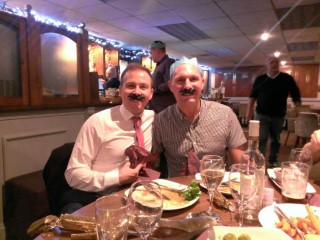 Warner Christmas Meal 2014 Moustache Dad And I