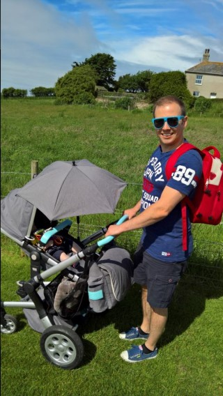 Weymoth Dorset Holiday June 2016 Me Pushchair And Backpack