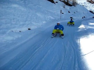 dad and i sledging 2011