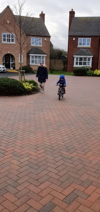 ethan 1st ride on pedal bike dec 2019