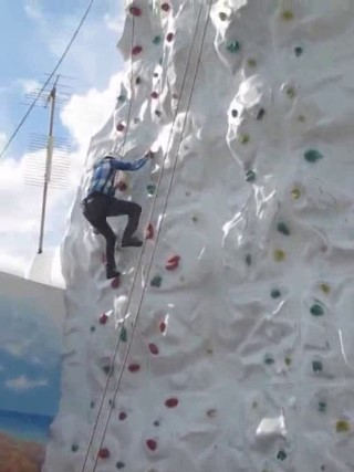 me on the cruise rock wall
