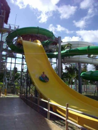 on the yellow water slide dominican republic 2014