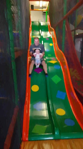 poole dorset holiday june 2016 ethan and i slide