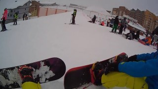 val thorens 2015 first time snowboarding with crashes