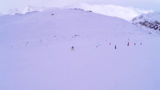 val thorens 2015 my dad following me snowboarding