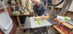 Dad Cutting Wood Making The Frame Magic Mirror Dec 2020