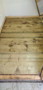 Dried Varnished Shed Floor Sept 2020