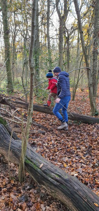 Ethan And Dad Burbage Common Warner Family Walk Nov 2020