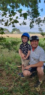 Ethan And I Combine Harvester Bike Ride Aug 2020