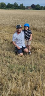 Ethan And I Field Combine Harvester Bike Ride Aug 2020