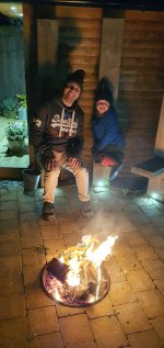 Ethan And I Fire Bonfire Night Nov 2020