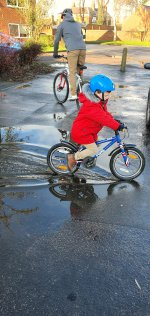 Ethan And I Riding Wet Bike Ride Jan 2021
