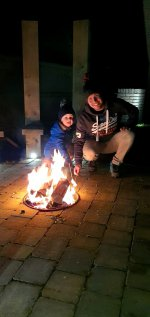 Ethan And I Roasting Marshmallows Bonfire Night Nov 2020
