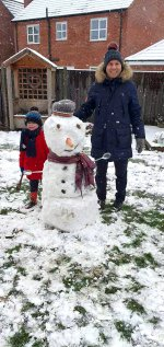 Ethan And I Snowman Full Snow Day Jan 2021