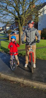 Ethan And I Wet Bike Ride Jan 2021