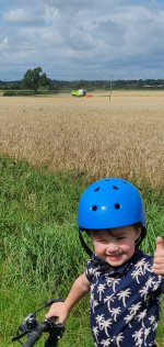 Ethan Combine Harvester Bike Ride Aug 2020