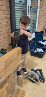 Ethan Drilling Mud Kitchen Step June 2020