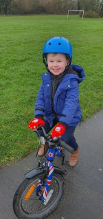 Ethan New Years Day Bike Ride Jan 2021