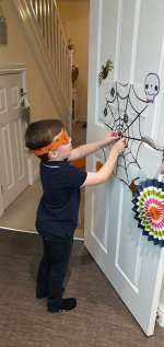 Ethan Pin The Spider Halloween Party Oct 2020