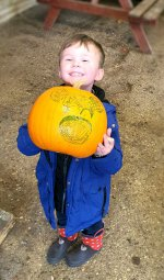 Ethan Pumpkin Drawing Pumpkin Picking West Lodge Farm Park Oct 2020