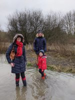 Ethan Rachel And I Watermead Country Park Walk Dec 2020