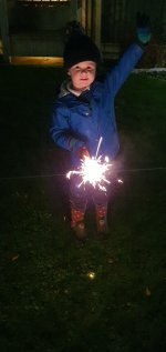 Ethan Sparkler Bonfire Night Nov 2020