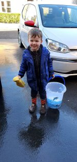 Ethan Washing Cars Busy Day Oct 2020