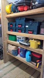 Finishing Touches To The Shed Feb 2017 Tools On Shelf