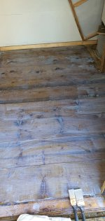 Just Painted Varnished Shed Floor Sept 2020