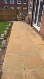 Patio Laid Running Power And Slabbing July 2017