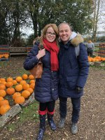 Rachel And I Pumpkin Picking West Lodge Farm Park Oct 2020