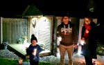 Rachel Ethan And I Sparklers Bonfire Night Nov 2020