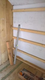 Shed Shelf December 2016 Timer Wall And Battens