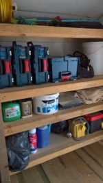 Shed Shelf December 2016 Tools