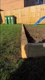 Swing Set Play Area Wood Nov 2016 Close Up