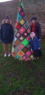 The Family Tree Cosby Christmas Knitting Bomb Dec 2020